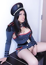 TS Vivian Black is soooo sexy in her Police Uniform