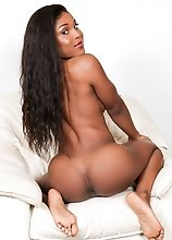Watch petite black tgirl Naraya as she strips down revealing her amazing fit body, her hard cock and a beautiful face.
