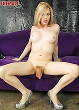 Tyra Scott is a beautiful transgirl with a stunning body, big juicy boobs, a great ass, rock hard cock and long sexy legs that go on and on..... Watch