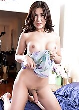 Ladyboy Emmy has an amazing body, big boobs and a perfect ass! Watch her stripping, posing and stroking her cock until she pops a hot creamy load!