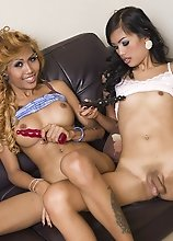 Noon and Karn lick and suck hard Ladyboy cocks
