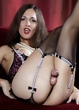 Super hot tgirl Nicole Montero stripping and posing