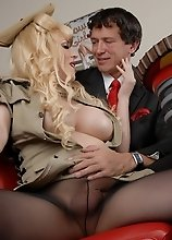 TS Jesse gets naughty in the diner